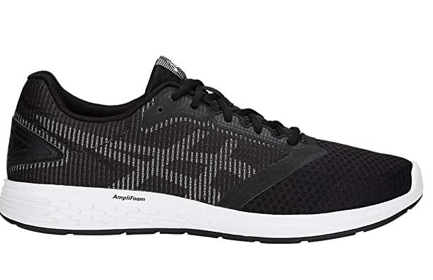 giay chay bo ASICS Mens Patriot 10 Running Shoes 12M Black White