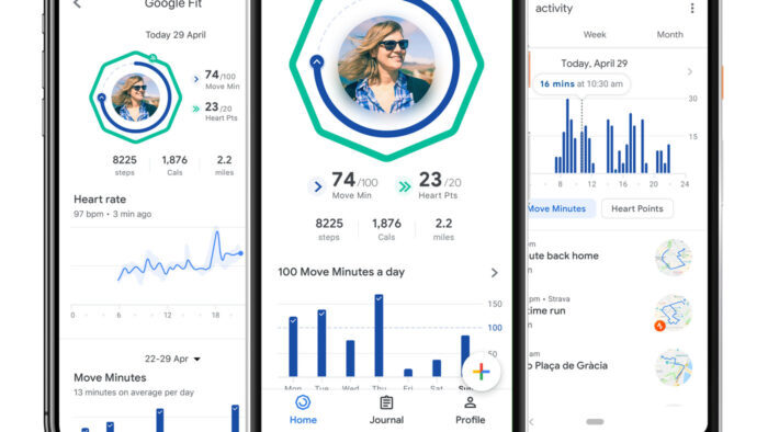 ung dung chay bo google fit